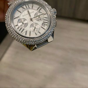 Michael Kors MK Silver Chron Camille Glitz Watch